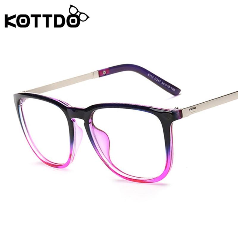 KOTTDO Fashion Big Frame Retro Eyeglasses Frame Women Men Vintage ...