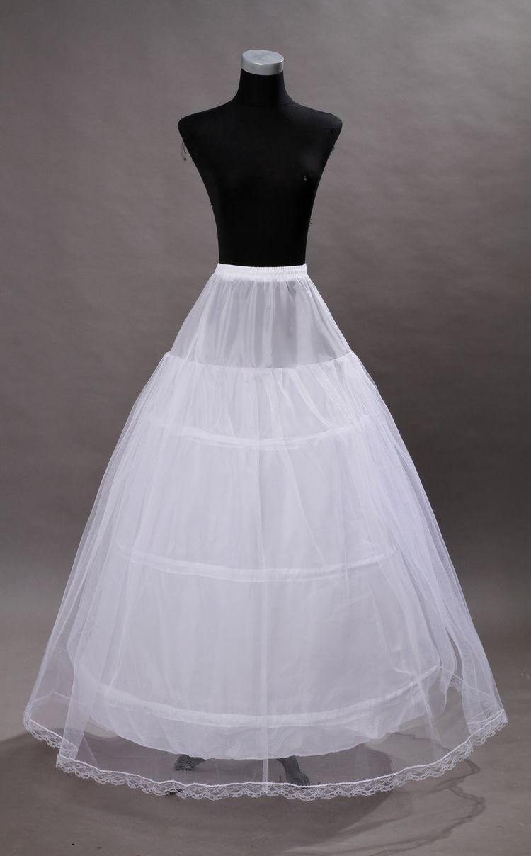 100% High Quality A Line 2 hoop Tulle Wedding Bridal Petticoat Underskirt Crinolines for Wedding Dress Free Size Crinoline 2019