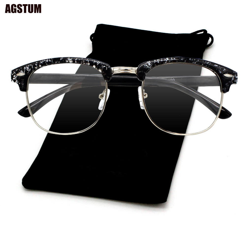 42mm Size Retro Vintage Eyeglass Frame Glasses Harry Potter Style Kacamata Lenon Metal Black Agstum Womens Mens Klasik Bingkai Nerd Batal Lens Pengiriman Gratis