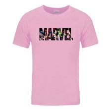 Marvel Short Sleeve T-shirt Men Superhero print t shirt