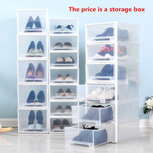 Shoe box transparent storage, shoe box, plastic shoes, high heel shoes box, men's and women's free combination shoebox.
