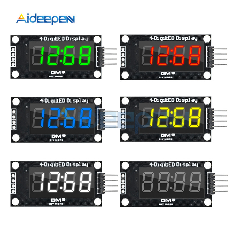0.36 Inch TM1637 <font><b>LED</b></font> Display Time Clock Module For Arduino <font><b>7</b></font> <font><b>Segment</b></font> <font><b>4</b></font> <font><b>Bits</b></font> Clock Digital Tube Four Serial Driver Board image