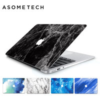 For Macbook Retina Air Pro 13 3 15 4 Graffiti Sticker 3D Marble Protective PVC Laptop