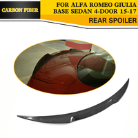Carbon Fiber Car Rear Trunk Lip Spoiler Wing For Alfa Romeo Giulia Sedan 4 Door Only
