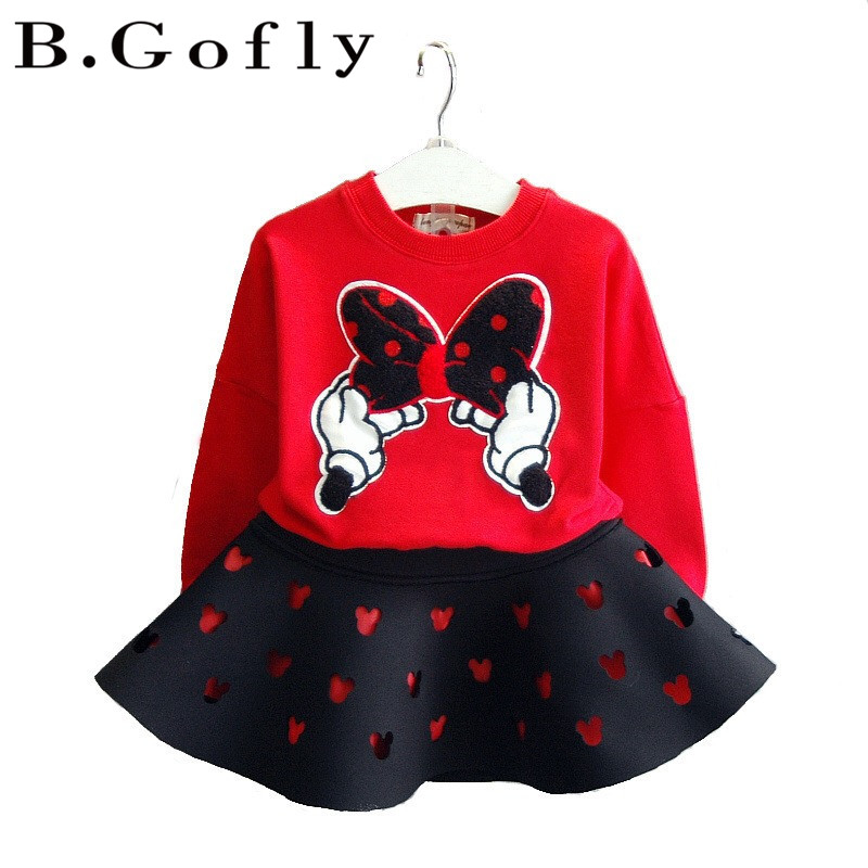 Clothes Clothing Long Sleeve Shirt Spring Prinncess Children Toddler Kids Christmas Sweatshirt Girls Minnie Mouse Dress letter print long sleeve sweatshirt dress page 5