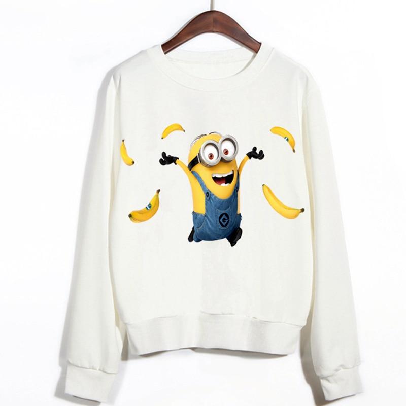 H102 2015 Casual Autumn Banana Minion Print 3d Cartoon design Women Pullovers Sweatshirts