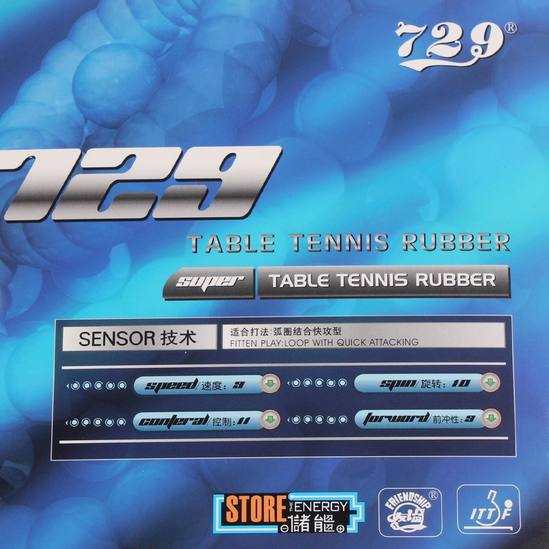 Amistad 729 Super FX (spin y Control) pips-In Ping Pong caucho con ping pong esponja