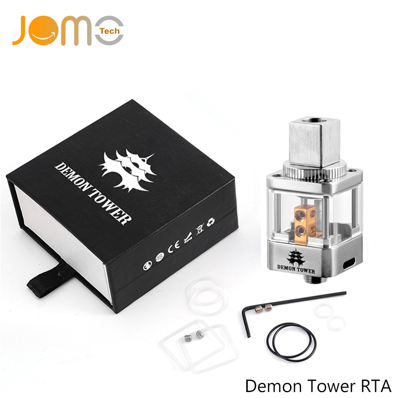 Electronic Cigarette Mod RTA Rebuildable Atomizer SS Demon Tower RTA Dripping Tank Vape Atomizer For 18650