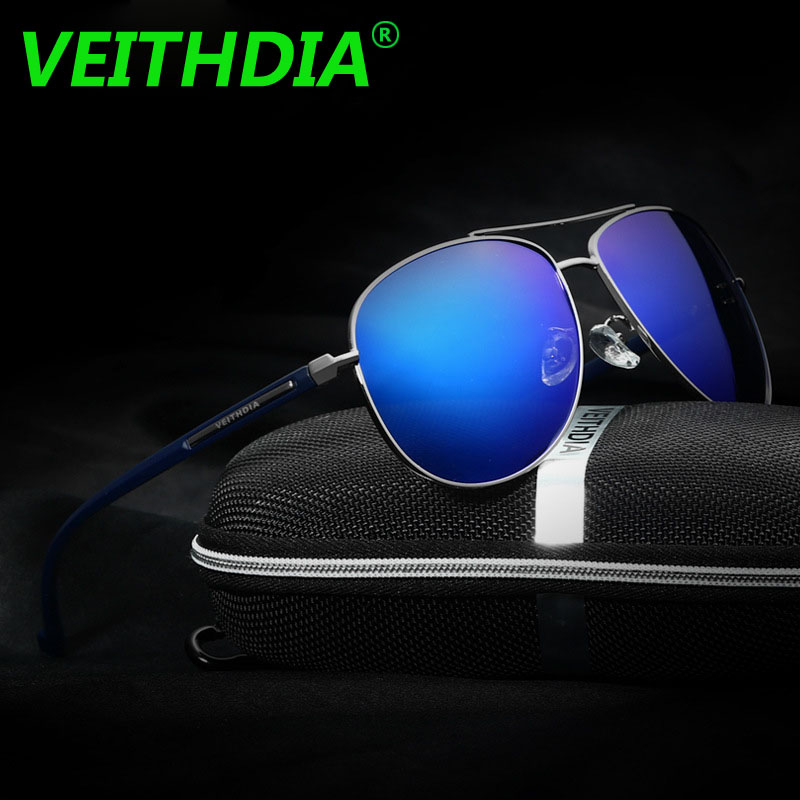 abaf8225fc VEITHDIA Brand 2018 Retro Aluminum Magnesium Men s Mirror Pilot Vintage  Eyewear Sun Glasses Polarized Sunglasses For Men