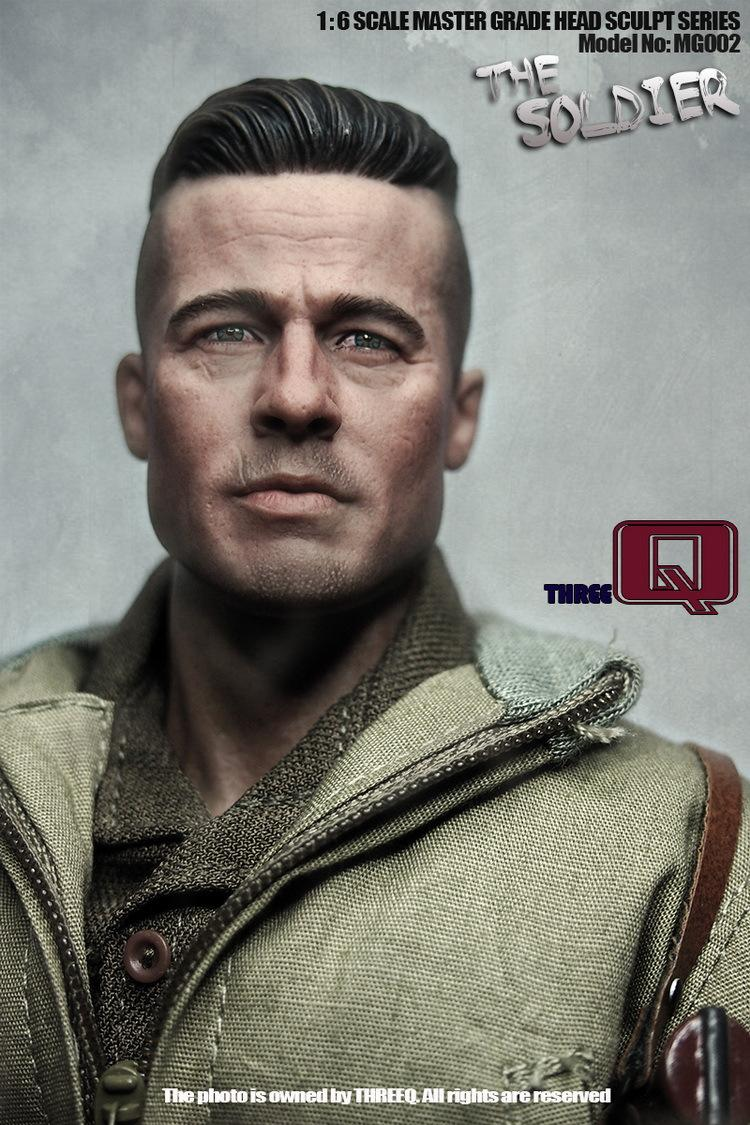 ФОТО 1/6 Scale Male head sculpt Brad Pitt Furious ,DIY accessories for 12