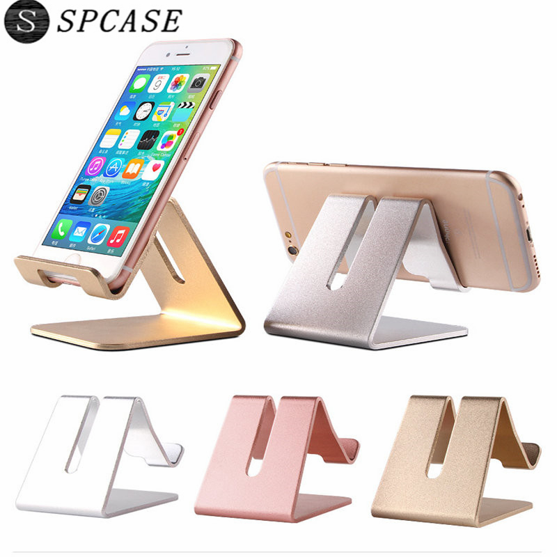 SPCASE Universal Portable Lazy Mobile Phone Stand for iPhone X Samsung iPad Phone Tablet Flexible Aluminum Metal Desk Holder