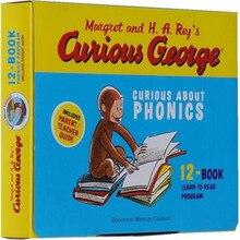 12 stks/set Curious George Curious gift natuurlijke spelling originele Engels Geïllustreerde kinderen prentenboeken