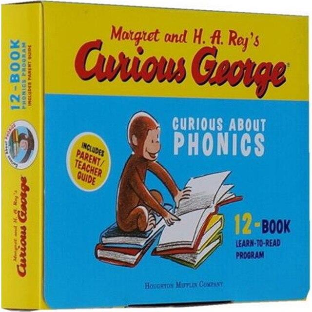 12ピース/セットおさるのジョージおさるギフトナチュラルスペルオリジナル英語図示子供の絵本
