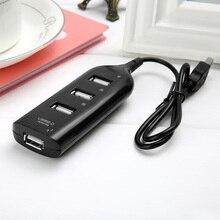 Черный 50 см Стандартный 2,0 USB Hub 4 Порты и разъёмы зарядки usb-концентратор переключатель для портативных ПК Компьютерная периферия аксессуары USB flash 0,5 м