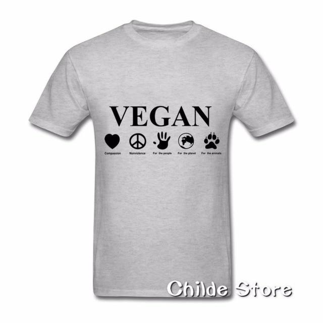 140e2787a 100% Algodão Tshirt Venda Barato kawaii tumblr Vegan Go Fazer Vegan Fácil  Camisa de T