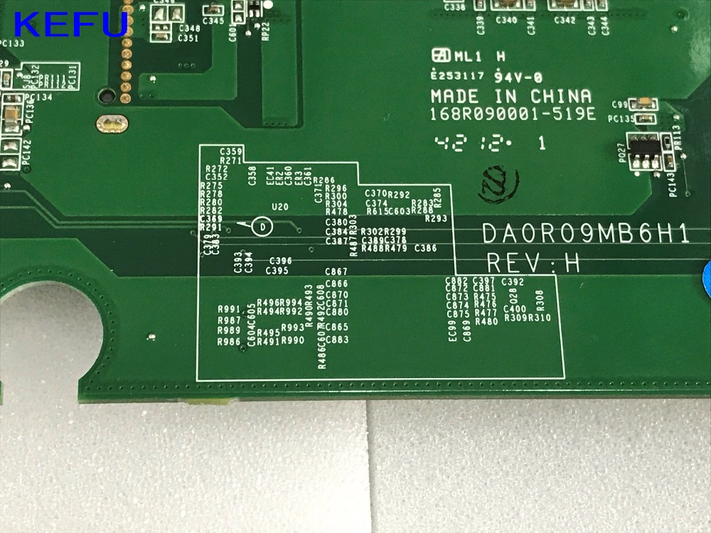 KEFU DA0R09MB6H1 REV : H1 FREE SHIPPING Mainboard Laptop Motherboard for Dell inspiron 5720 Notebook PC COMPARE BEFORE ORDER stock new free shipping mbx 223 m971 a1794339a laptop motherboard for sony vpcea notebook pc compare before order