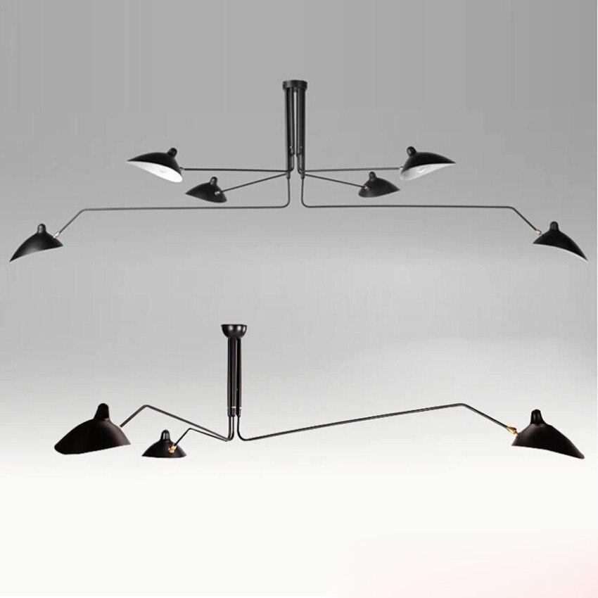 serge mouille lighting. aliexpresscom buy nordic 3 arm 6 serge mouille ceiling lights duckbill replica rotating dining room lighting lamps whiteblack from l