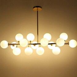 Lampy wiszące led nowoczesne lampy wiszące lampy wiszące do kuchni złota oprawa wisząca Lamparas oświetlenie 16 szkło D123 w Wiszące lampki od Lampy i oświetlenie na