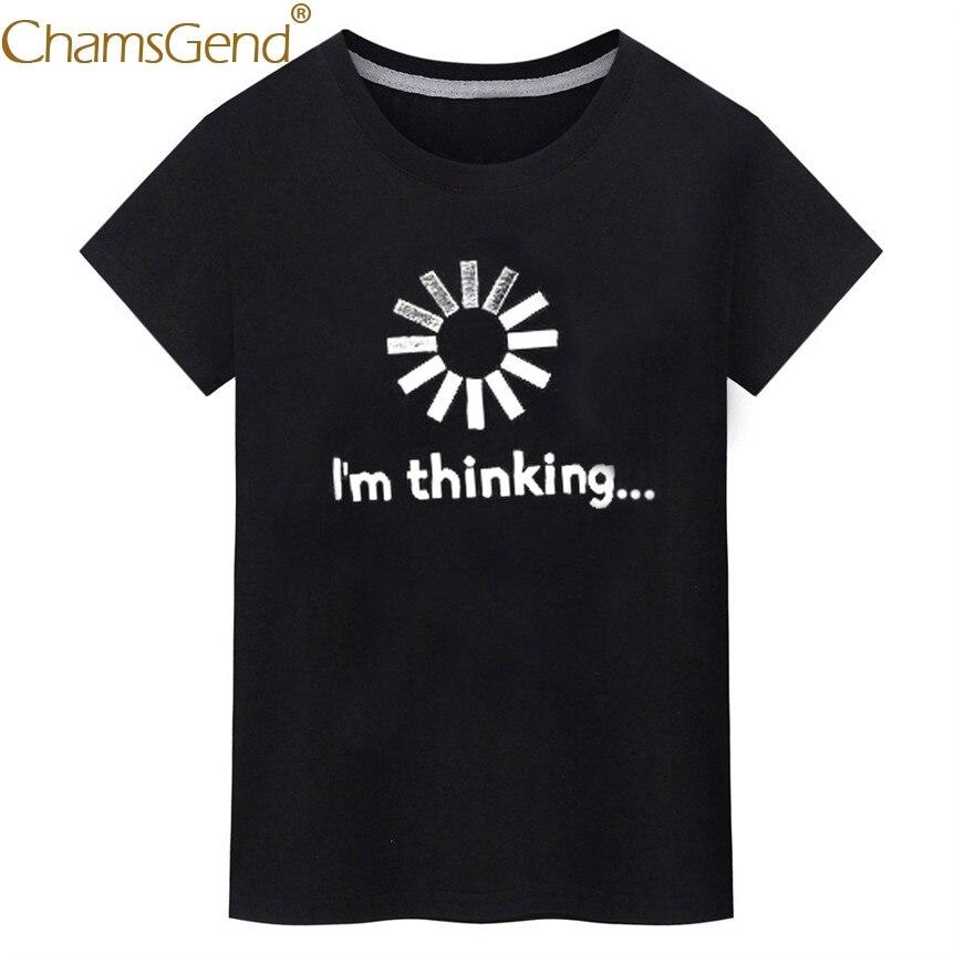 Chamsgend Funny I'M Thinking Shirt Men Casual Round Neck Short Sleeve Black Summer Tee T-Shirt 80207