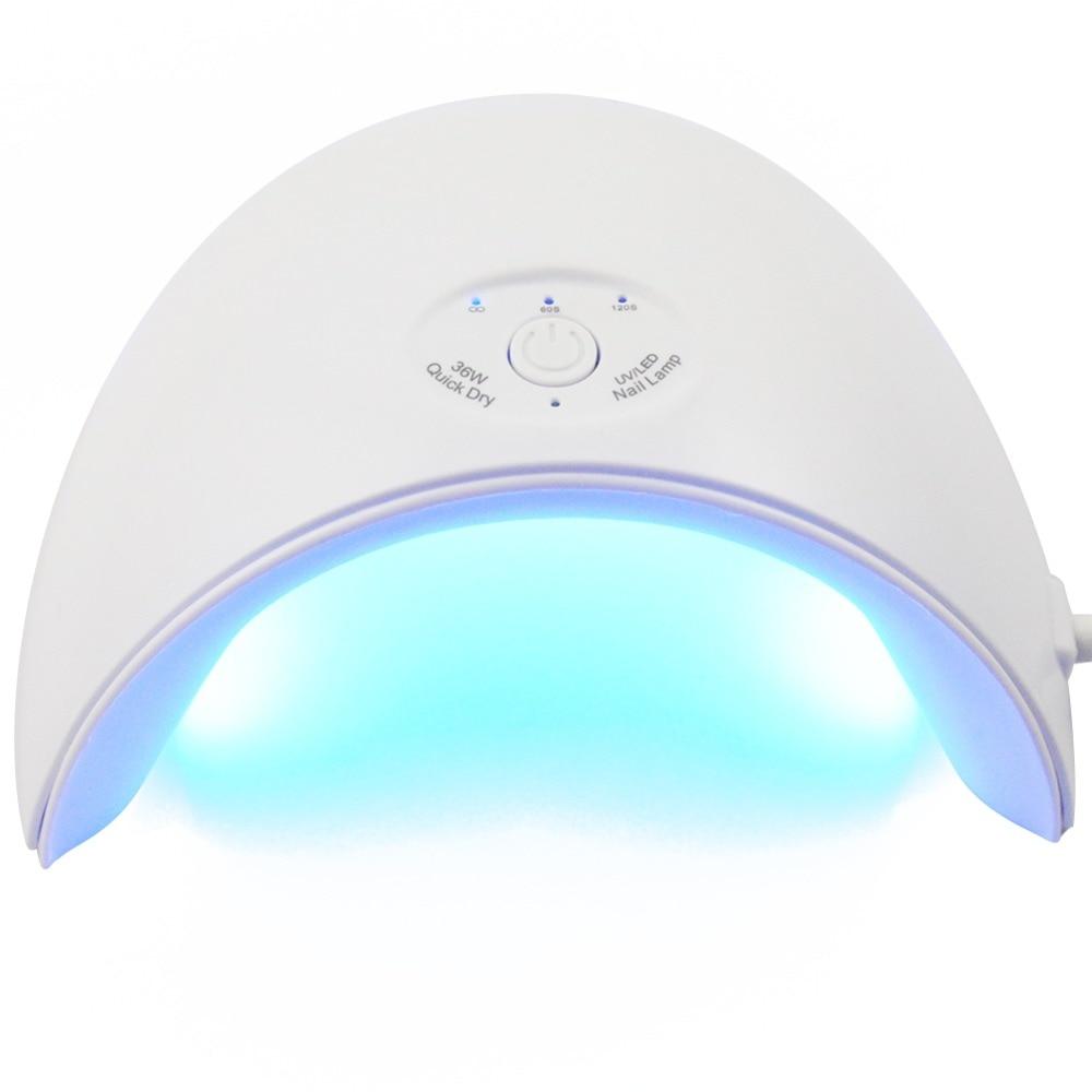 36 w UV Led Ongles Lampe Sèche-Pour Tous Les Type Gels 12 Led UV Lampe pour Nail Machine USB Connecteur durcissement 60 s/120 s Minuterie Tous Pour Les Ongles
