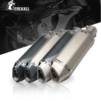 Universal Fiber Motorcycle Exhaust Pipe Muffler Motorbike Exhaust Modified Exhaust Pipe DB Killer For yamaha suzuki honda ktm