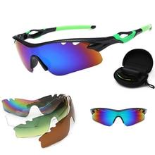 цены на Color Changing Cycling Glasses Bike Outdoor Sports Bicycle Sunglasses For Men Women Goggles Eyewear 5 Lens suit Bike Sunglasses  в интернет-магазинах