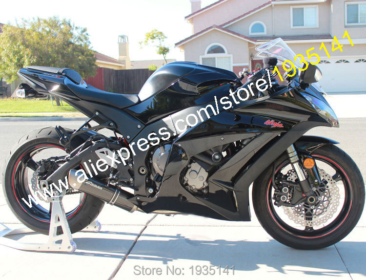Hot Sales,For Kawasaki Ninja ZX10R ZX 10R ZX-10R 2011 2012 2013 2014 2015 All Black Motorcycle Fairing Kit (Injection molding) kemimoto radiator guard cover grille protector for kawasaki ninja zx 10r zx 10r 2008 2009 2010 2011 2012 2013 2014 zx10r