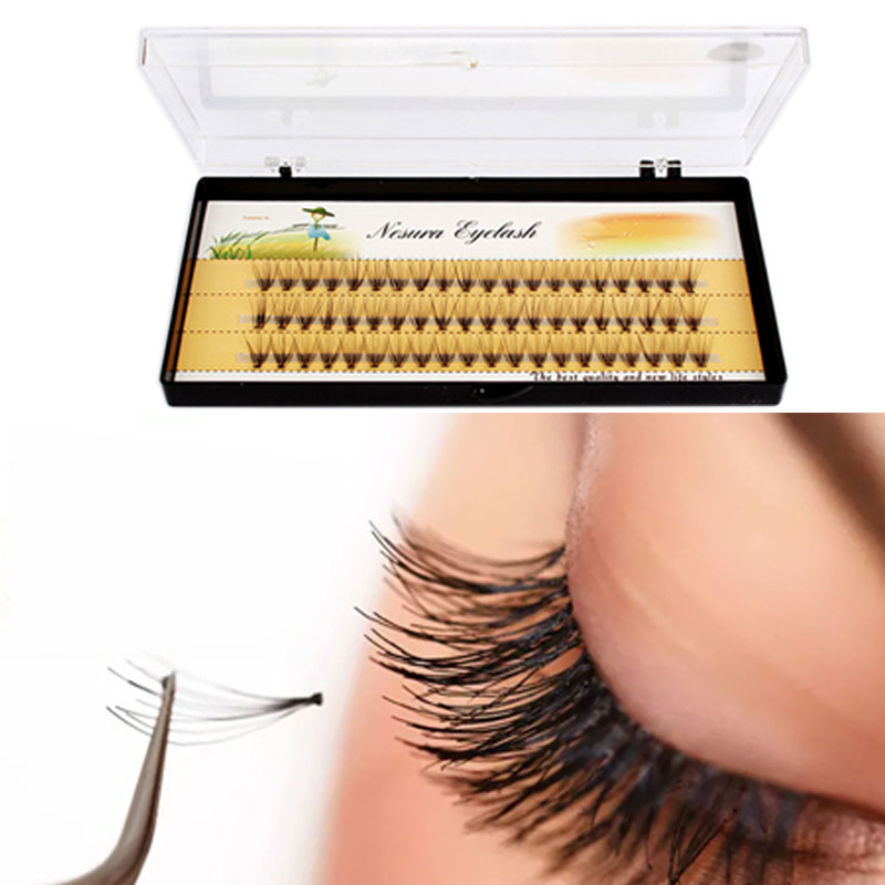 3 Lines Silk Mink Individual Lashes Eyelash Extentions Individual Flare Nature Long False Eye Lashes Extension Beauty Tools