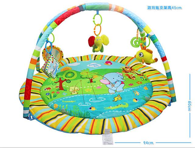 Educação anime character jogo ginásio de algodão do bebê jogo tapete