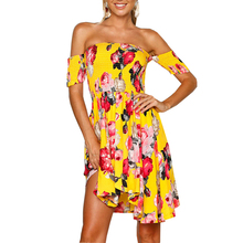 51f8fea5db99d Buy yellow flower dress and get free shipping on AliExpress.com