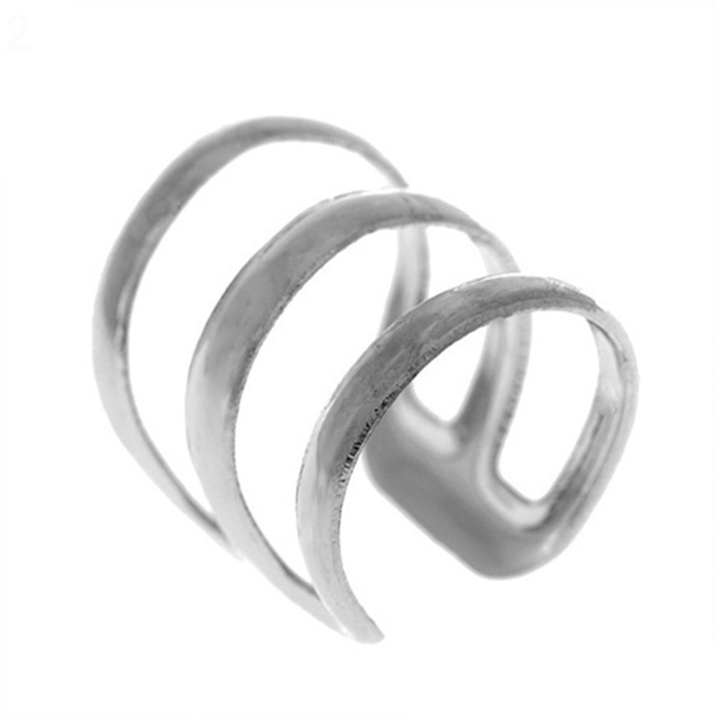 1Pcs New Punk Rock Ear Clip Cuff Wrap Earrings No piercing-Clip on Silver Gold Women Men Party Jewelry(China)