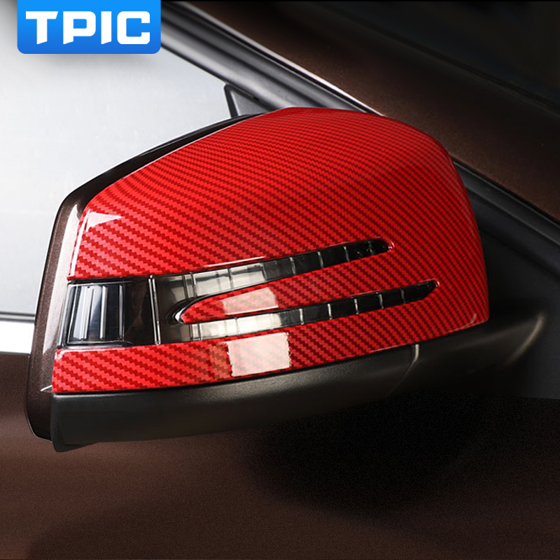TPIC ABS 2pc lot Rearview mirror cover Stickers Decal Car Styling For Mercedes A Class 2013