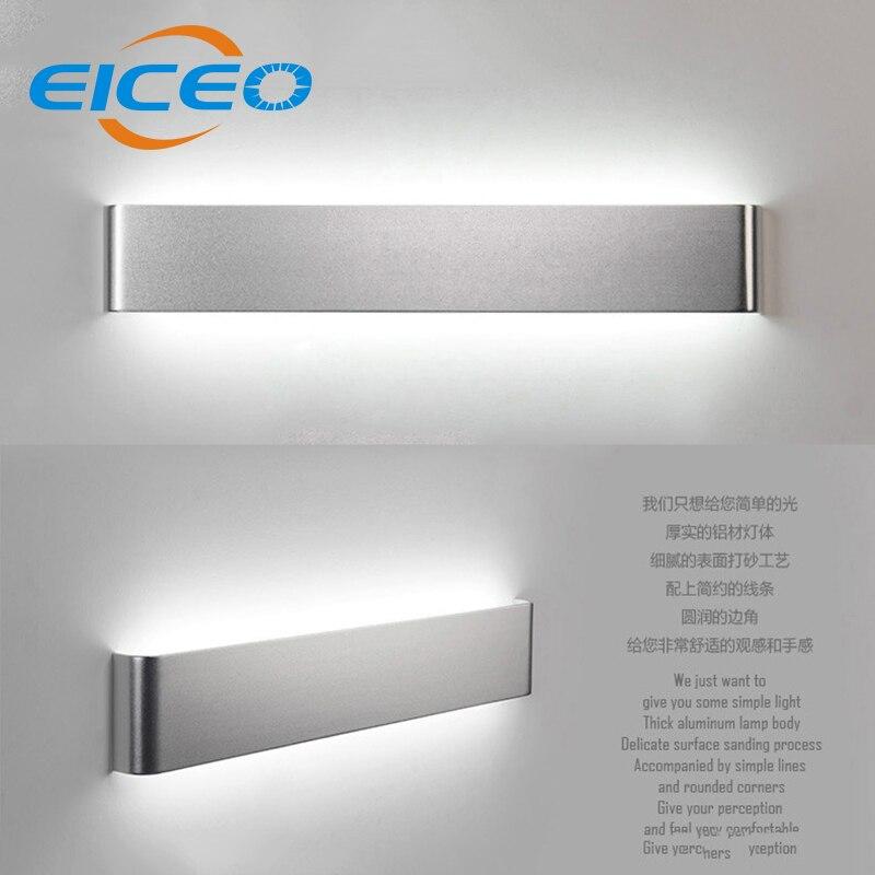 (EICEO) Moderní 36cm 46cm Minimalistický obývací pokoj Ložnice Chodba Hliníková LED Nástěnná lampa Zrcadlo Přední lampy Creative AC185-265V