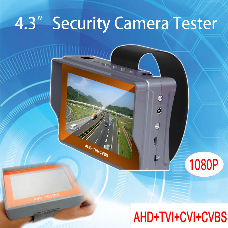 4.3 inch TFT LCD MONITOR HD Four in One 1080P 2MP AHD TVI CVI CVBS Surveillance CCTV Camera Tester Free shipping usb led gift grip and folding 4 3 inch tft lcd monitor 1080p 2mp ahd tvi analog surveillance cctv camera tester free shipping