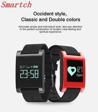 Smartch DM68 сердечного ритма Смарт часы с кровью Давление монитор IP67 Водонепроницаемый Шагомер фитнес-Браслет smartwatch PK fitbit