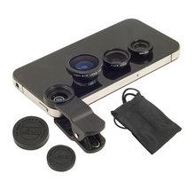 3 in 1 Universal Fish Eye Wide Angle Macro Lens Set Cellphone Fisheye Kit for Mobile