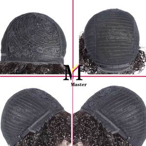 Image 3 - Short Curly Human Hair Wigs Afro Kinky Curly Human Hair Short Wigs Remy Hair Ombre Color for Black Woman
