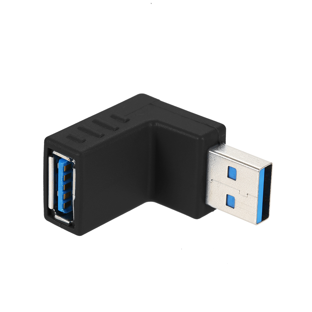 Right Angle USB3.0 AM to AF L Shape Adapter Converter USB 3.0 A Male to A Female 90 Degree Angle Plug Down usb 3 0 a female to a female f f converter adapter usb3 0 af to af coupler connector extender converter for laptop pc