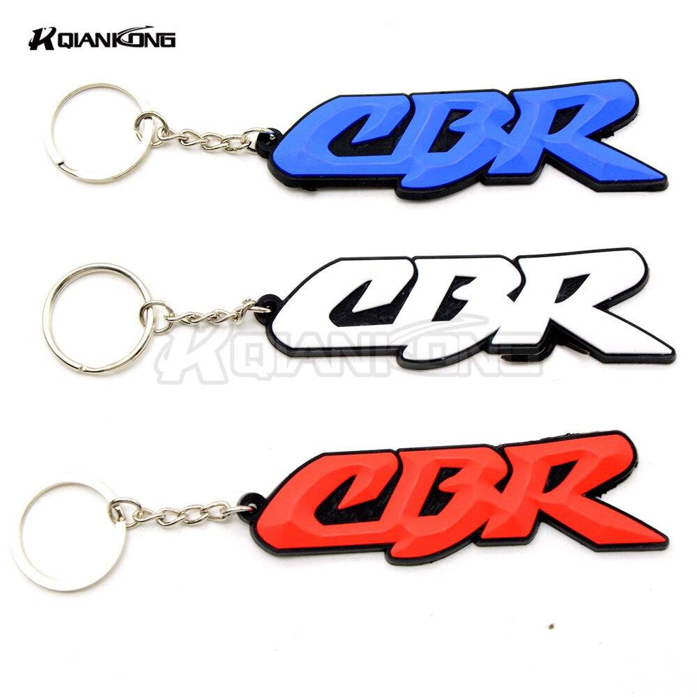 R QIANKONG 3D Motorcycle Accessories KeyChain Rubber Key Chain For Honda CBR250 cbr600 f2 f3 f4 cbr250r CBR750 CBR1000
