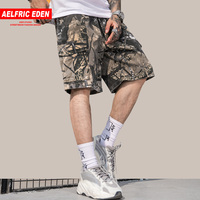 Aelfric Eden New Fashion Military Hip Hop Camouflage Men Short Knee Length Streetwear Loose Casual Jogger Drawstring Sweatpants