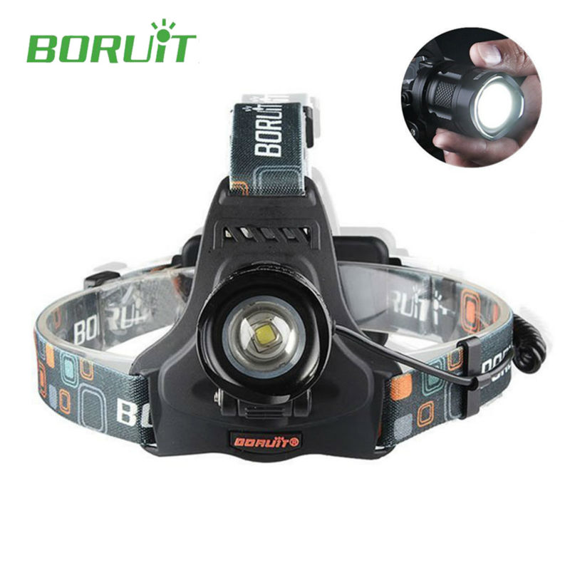 High Power Boruit rj-2157 2000LM Led Headlamp Flashlight forehead Torch XML L2 5 Modes Zoomable with Charger for Fishing Camping sitemap 33 xml