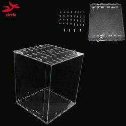 3D 8 LED Licht Cubeeds RGB Acryl fall-hinweis: cubeeds box nur mit die verwendung unserer 3d8 bunte cubeed, größe ist 23x23x h29 cm