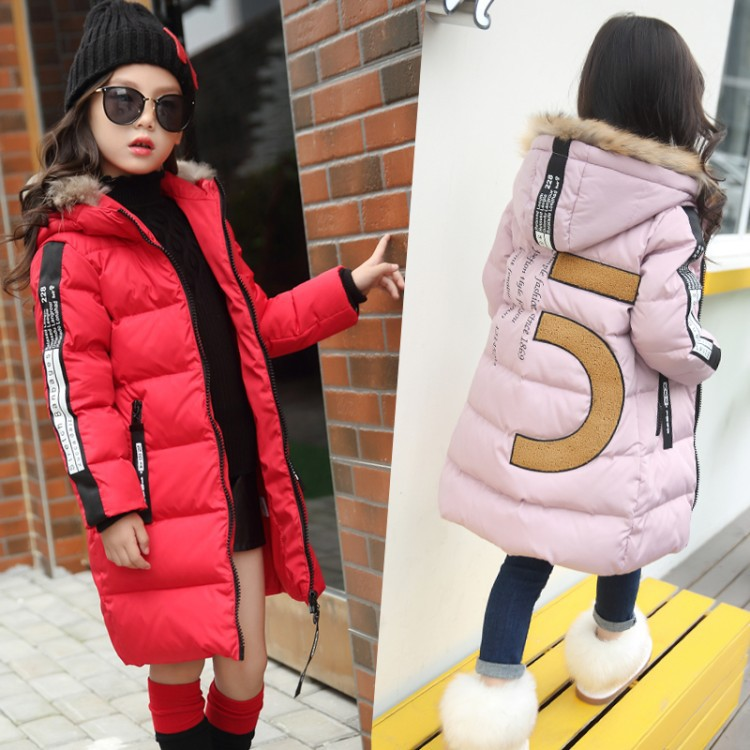 New 2017 Winter Baby Coat Girls Cotton Coat Kids Thicken Parkas Warm Toddler Hooded Jackets Children Outerwear,4-12Y,#2398 цена