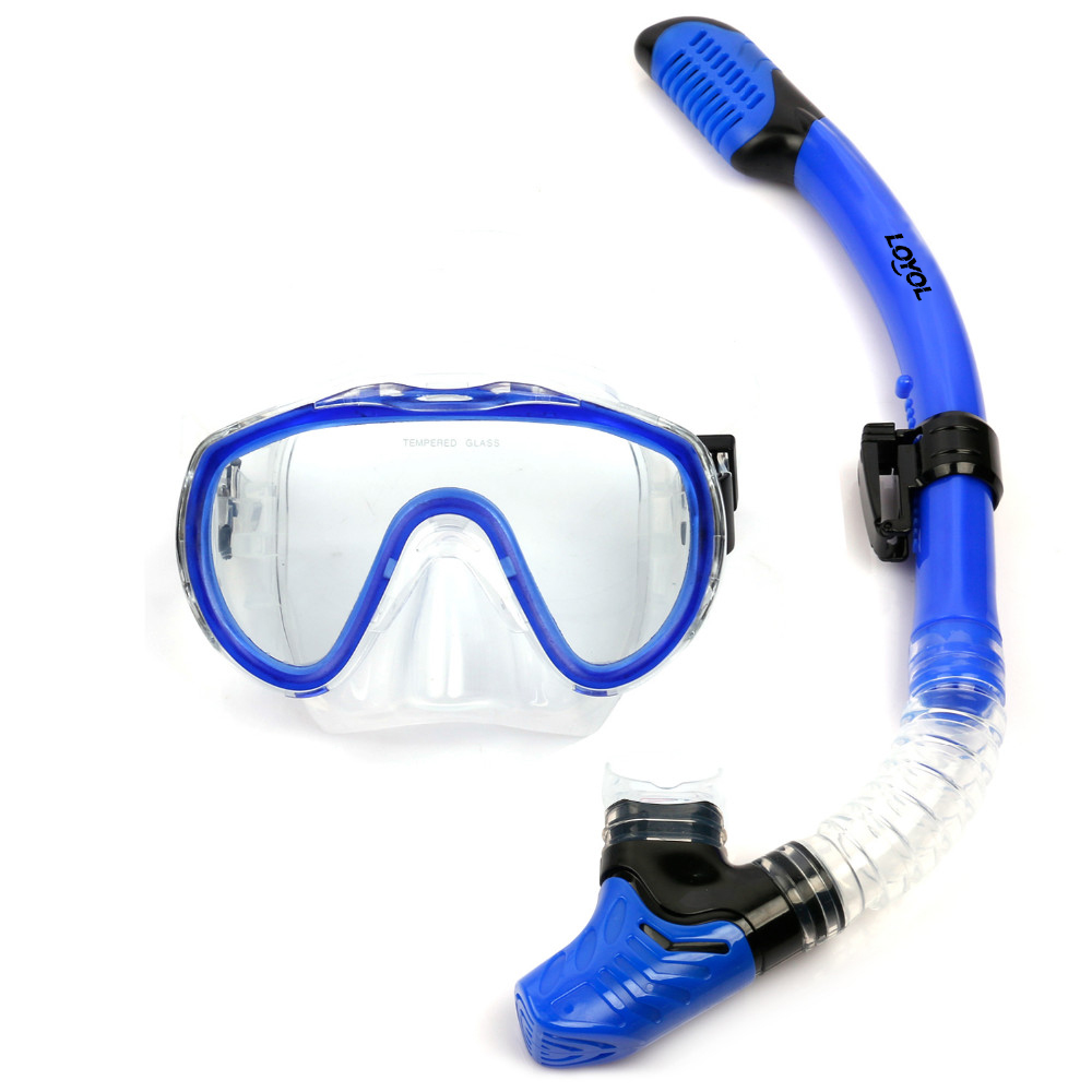 New Professional Antifog Scuba Diving Mask Snorkel Glasses Set Underwater Silicone Swimming Fishing Pool Equipment