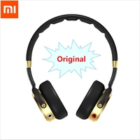 100% Original Headband Xiaomi Mi HiFi Headphone 50mm Beryllium diaphragm stereo Earphone With Microphone Gold+Black New Luxury