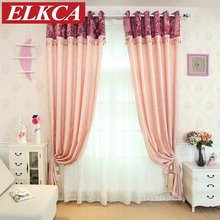 European Rose Jacquard Window Curtains For Living Room Luxury Valance  Curtains For Bedroom Ready Made Chinese