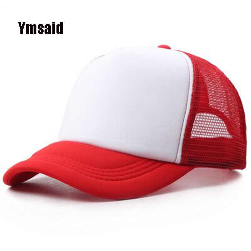 df42c14b6e5 2017 Trucker Cap Summer Sun Hats Mesh Candy Color Baseball Cap Casual  Hip-hop Adult