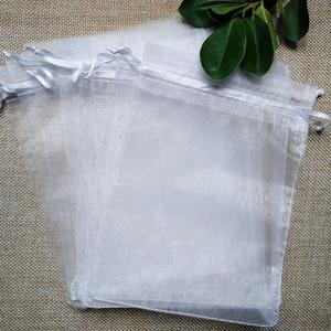 Image 5 - 1000 stks/partij 24 Kleuren Sieraden Bag 7x9 9X12 10x15 13x18cm Bruiloft gift Organza Tassen Sieraden Verpakking & Display Sieraden Pouches