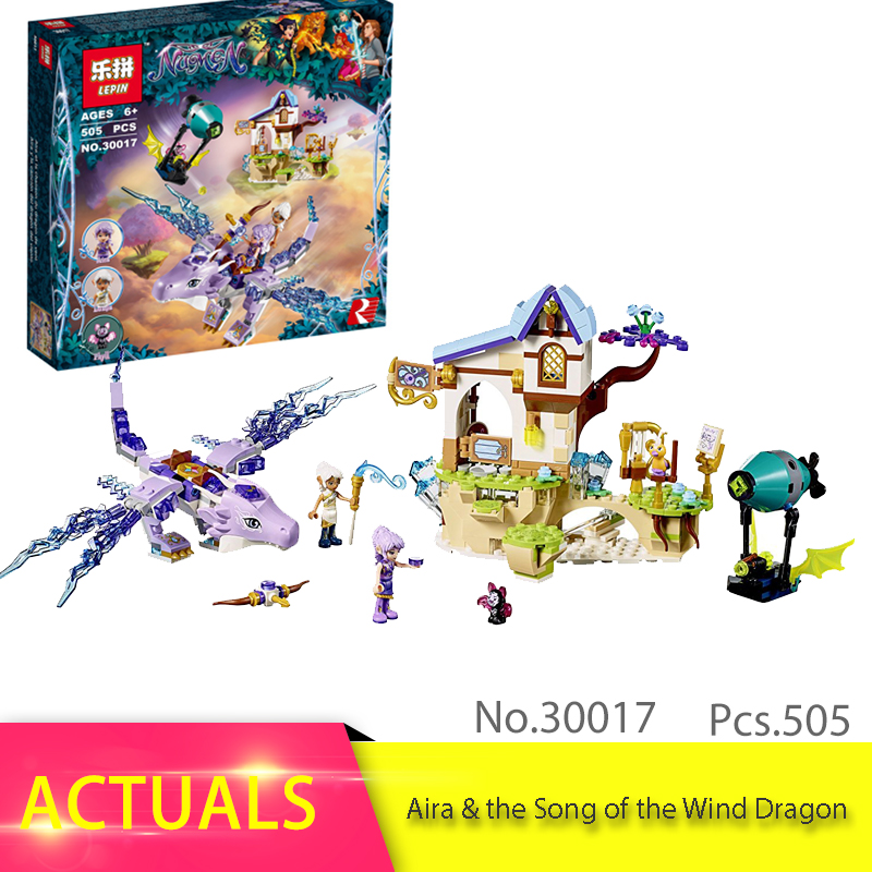 LEPIN 30017 505pcs Elves Series The Aira & the Song of the Wind Dragon Model Building Block Brick Toys children Gift 41193 lepin 30017 505pcs elves series the aira
