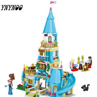 YNYNOO 37008 Princess Anna And The Prince Castle Model Building Kits Blocks Bricks Girl Toys